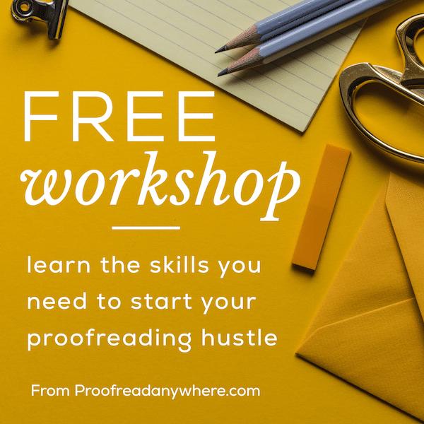 Free Proofreading workshop